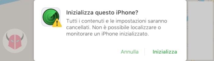 come ripristinare iPhone usando Trova il mio iPhone iCloud