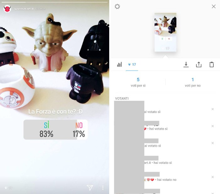 come vedere chi ha votato sondaggi Instagram risultati