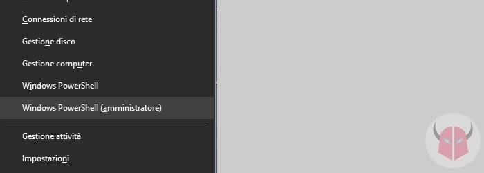 prompt dei comandi come amministratore Windows 10 Power User Menu e Windows PowerShell