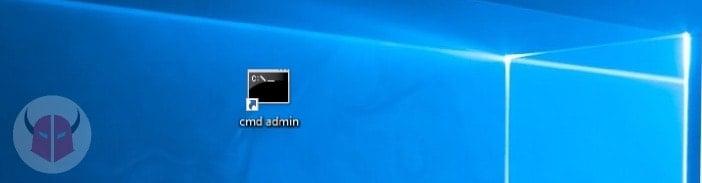 prompt dei comandi come amministratore Windows 10 collegamento sul Desktop