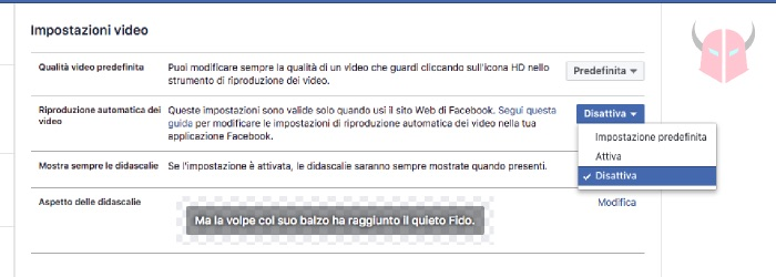come bloccare video Facebook PC