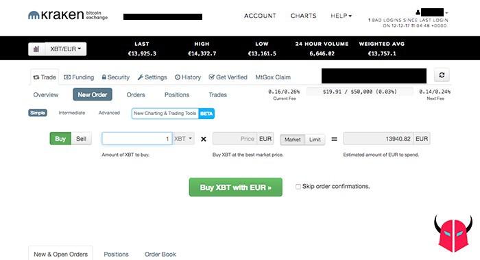 come comprare Bitcoin acquisto in Euro su Kraken