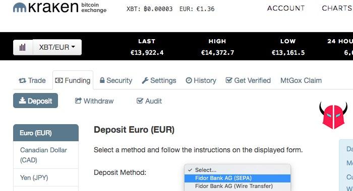 come comprare Bitcoin deposito Euro su Kraken