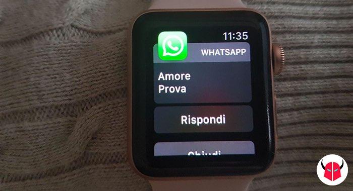 come installare WhatsApp su Apple Watch notifiche messaggi