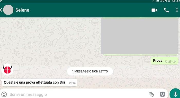 spunta blu WhatsApp non funziona Siri
