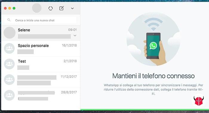 come collegare WhatsApp al computer accesso conversazioni
