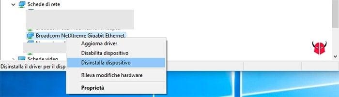 server DNS non risponde Windows 10 driver scheda di rete