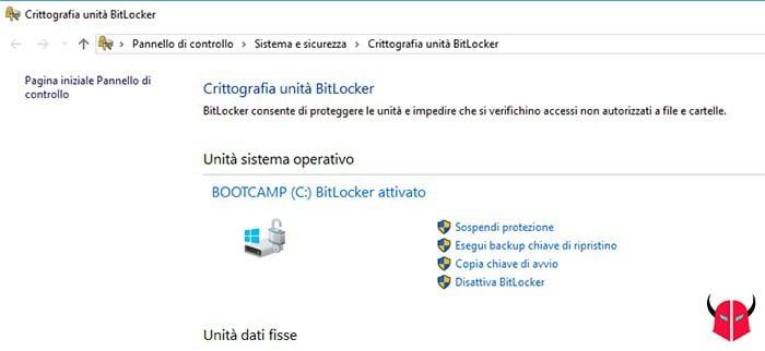 come attivare BitLocker Windows 10 crittografia unità
