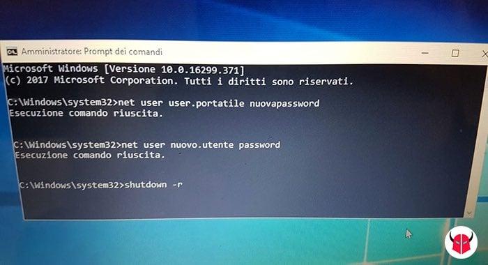 come bypassare password amministratore Windows 10 cambio password amministratore