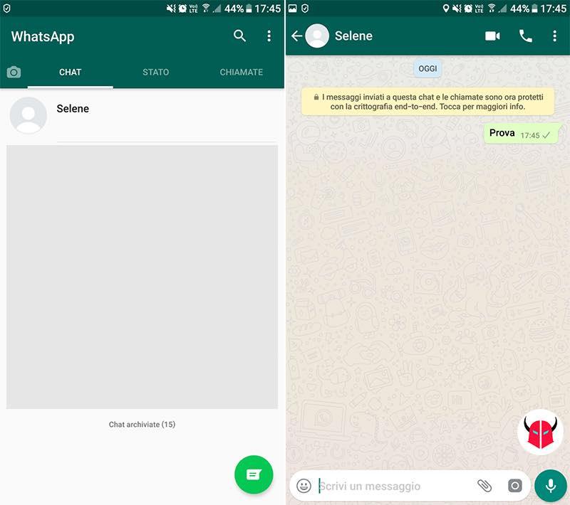 non riesco a vedere Stato WhatsApp blocco