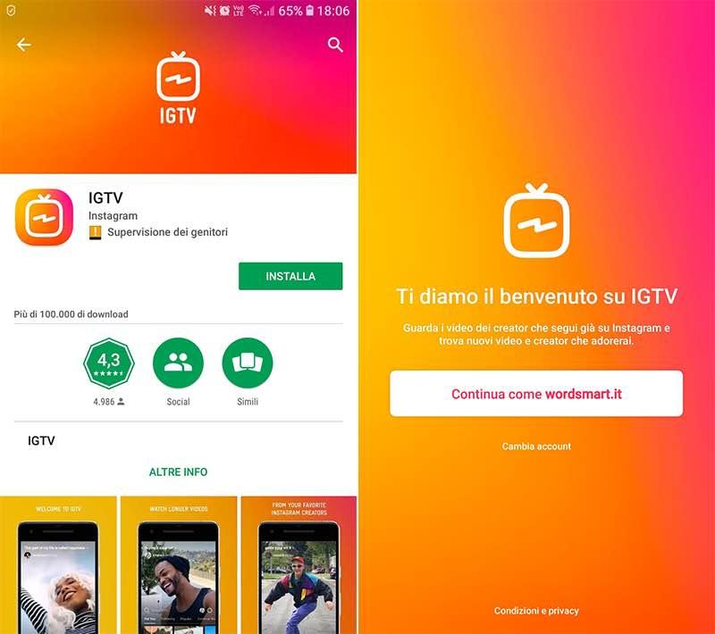come funziona IGTV Instagram installazione
