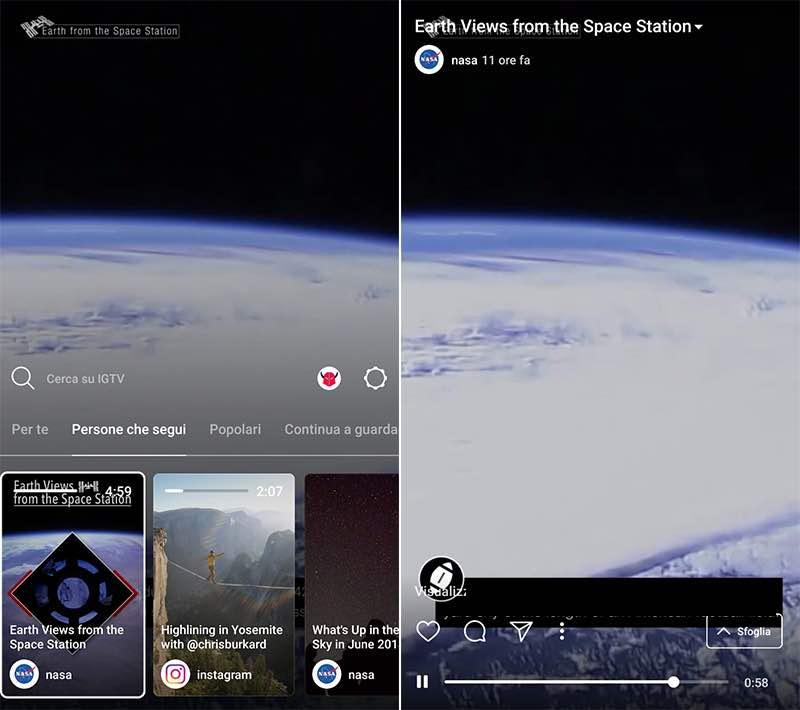 come funziona IGTV Instagram visualizzazione video