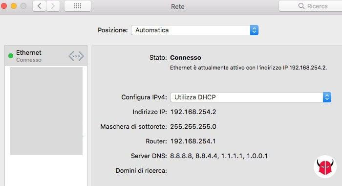 come sapere quali DNS sto usando Mac