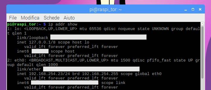 come trovare il proprio indirizzo IP Linux Raspberry Pi