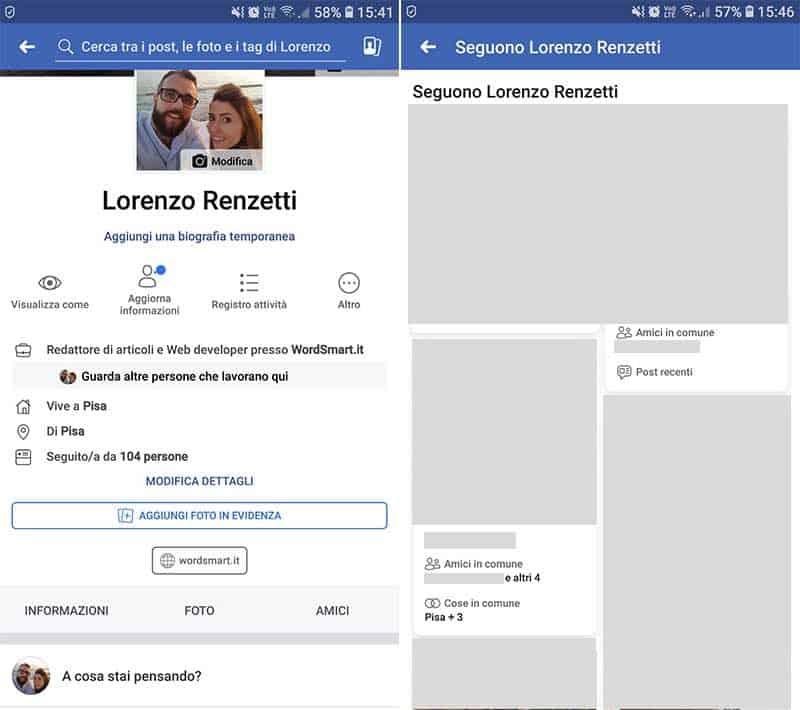 come vedere chi ti segue su Facebook seguaci
