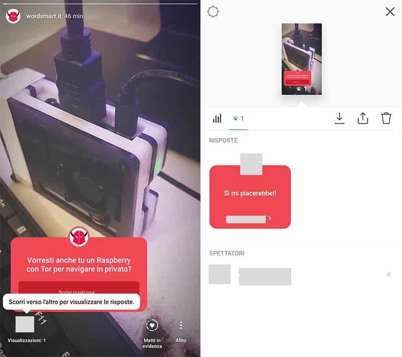 fammi una domanda Instagram visualizzazione risposte