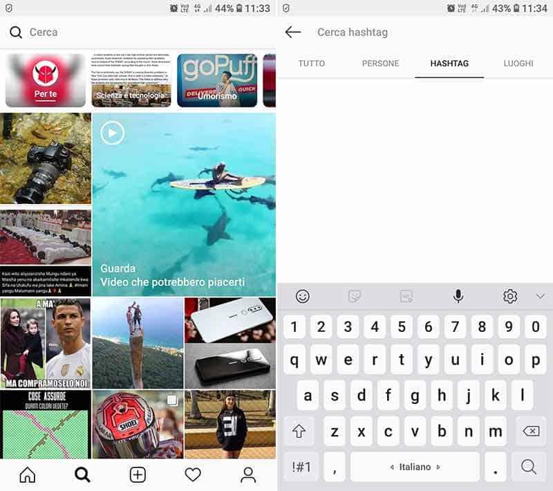 come aumentare follower Instagram sezione Esplora