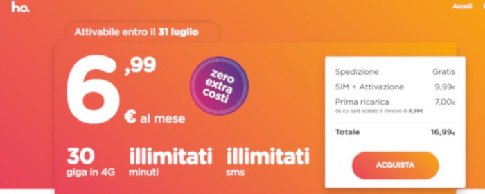 come passare a Ho Mobile di Vodafone registrazione e acquisto SIM