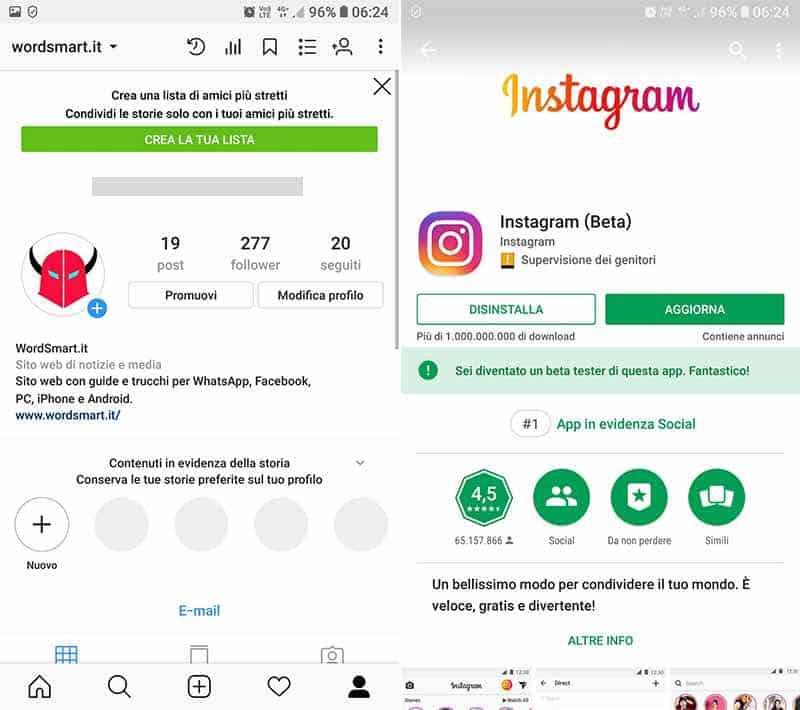 contenuti in evidenza Instagram spariti aggiornamento app