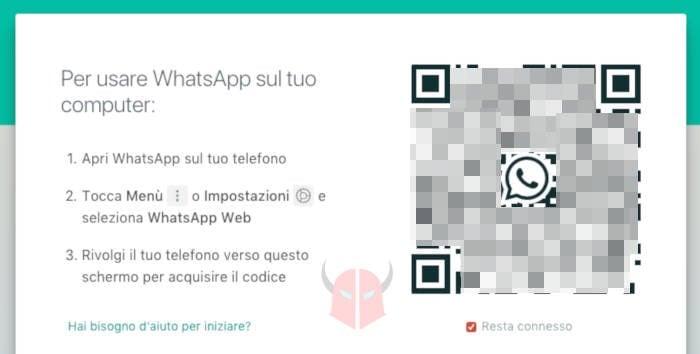 come entrare su WhatsApp senza codice WhatsApp Web QR code