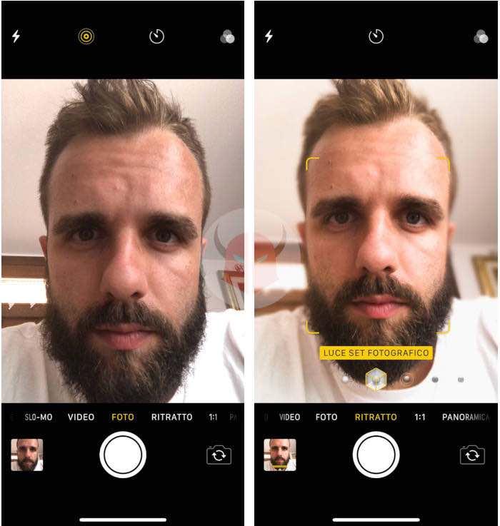 come fare Portrait Studio Light iPhone effetto