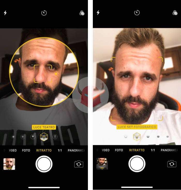 come fare Portrait Studio Light iPhone stili