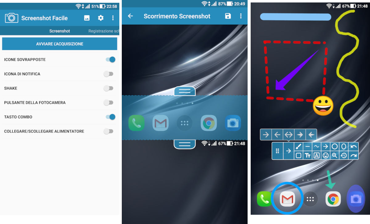 come fare screenshot Huawei app Screenshot Facile