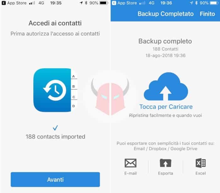 come passare contatti da iPhone a SIM Easy Backup