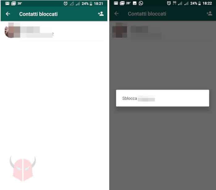 come vedere contatti bloccati WhatsApp Android