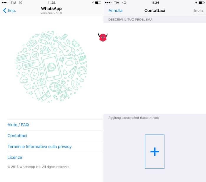 come aggiornare WhatsApp problemi aggiornamento segnalazione bug