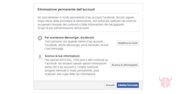 come cancellarsi da Facebook per sempre eliminazione PC