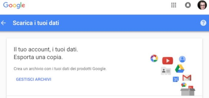 come cancellare account Google Plus backup