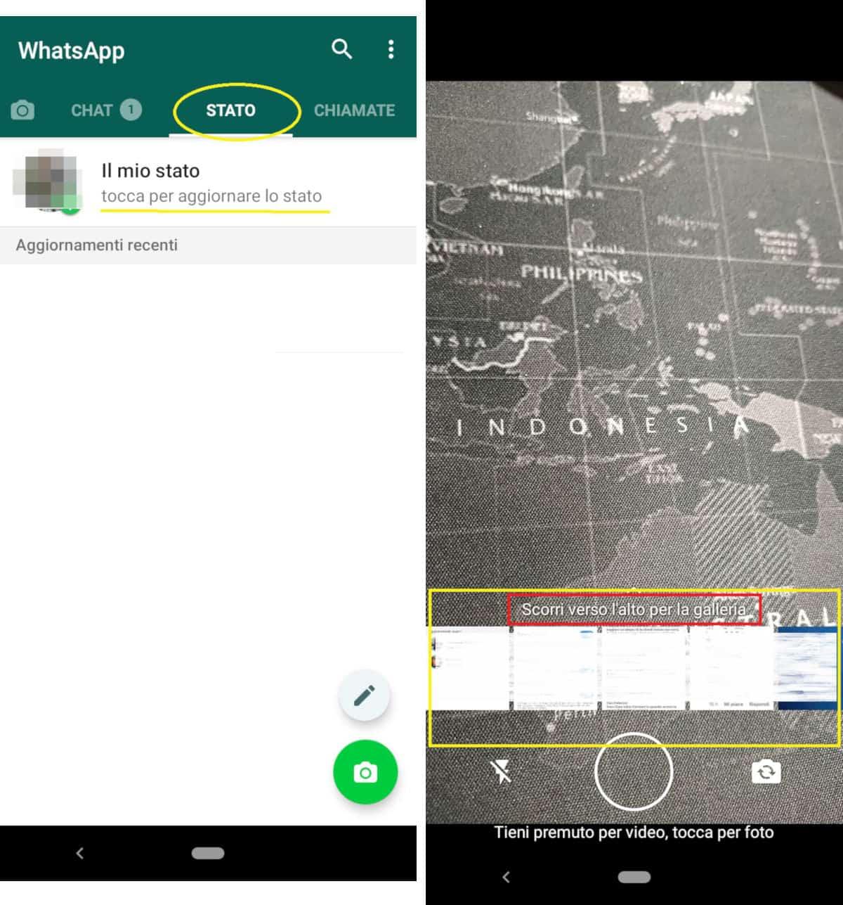 come condividere una storia su Instagram condivisione in uno stato WhatsApp