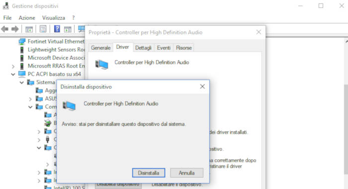 come installare dispositivi output audio Windows 10 automatico