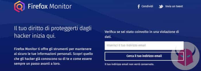 come capire se ti hanno hackerato Firefox Monitor