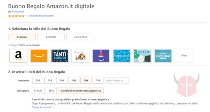 come fare un buono Amazon acquisto