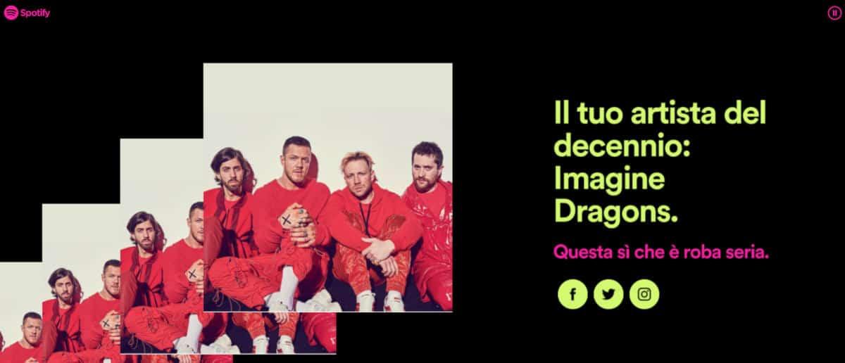 come vedere le canzoni più ascoltate su Spotify riproduzioni artista esempio Spotify Wrapped