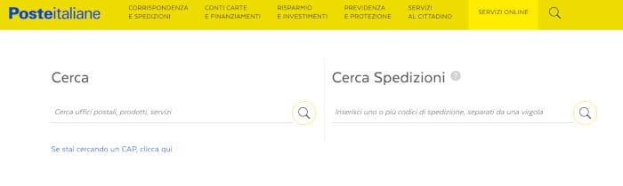 come fare una raccomandata ricerca ufficio o spedizioni Poste Italiane