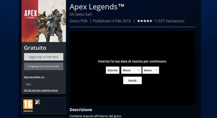 come giocare ad Apex Legends download e installazione