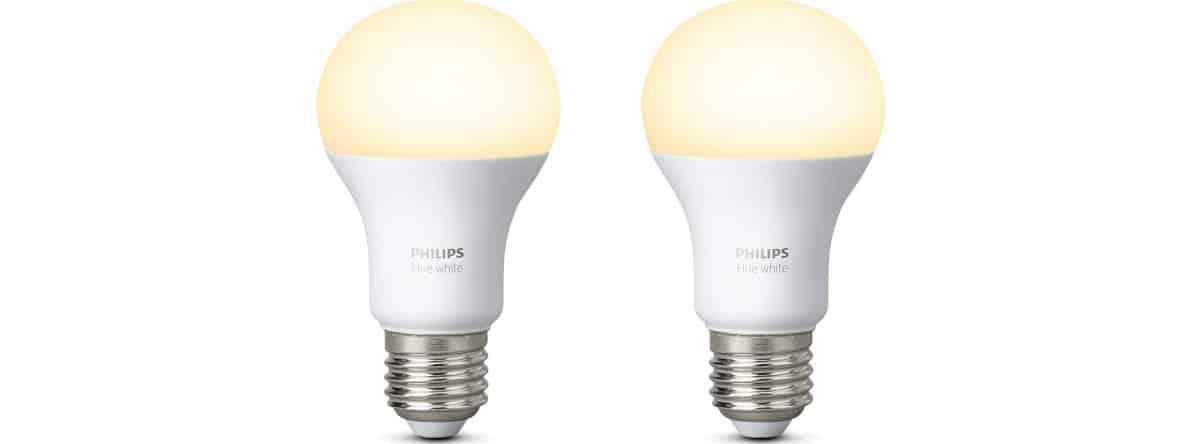 esempio lampadina Philips Hue white compatibile con Amazon Echo