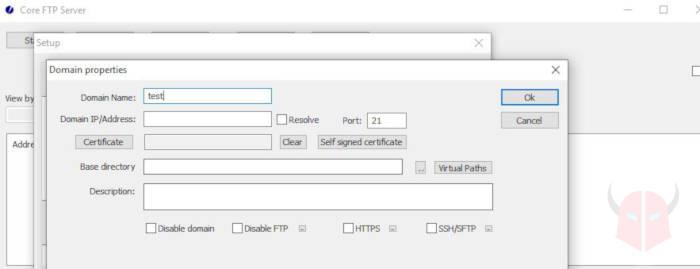 come creare server FTP Windows 10 Core FTP server