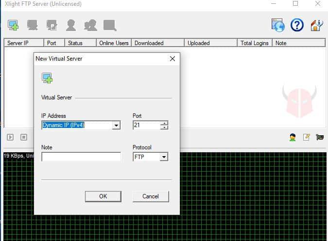 come creare server FTP Windows 10 Xlight FTP server
