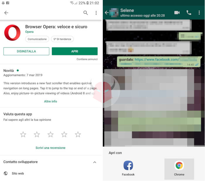 come impostare Chrome come browser predefinito Android