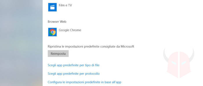 come impostare Chrome come browser predefinito Windows 10