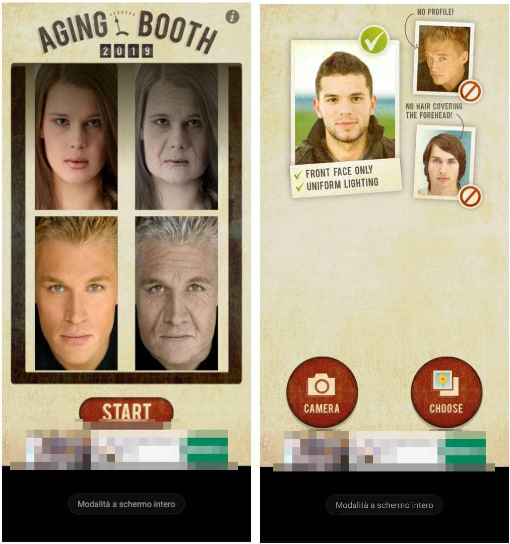 app per invecchiare foto AgingBooth Android