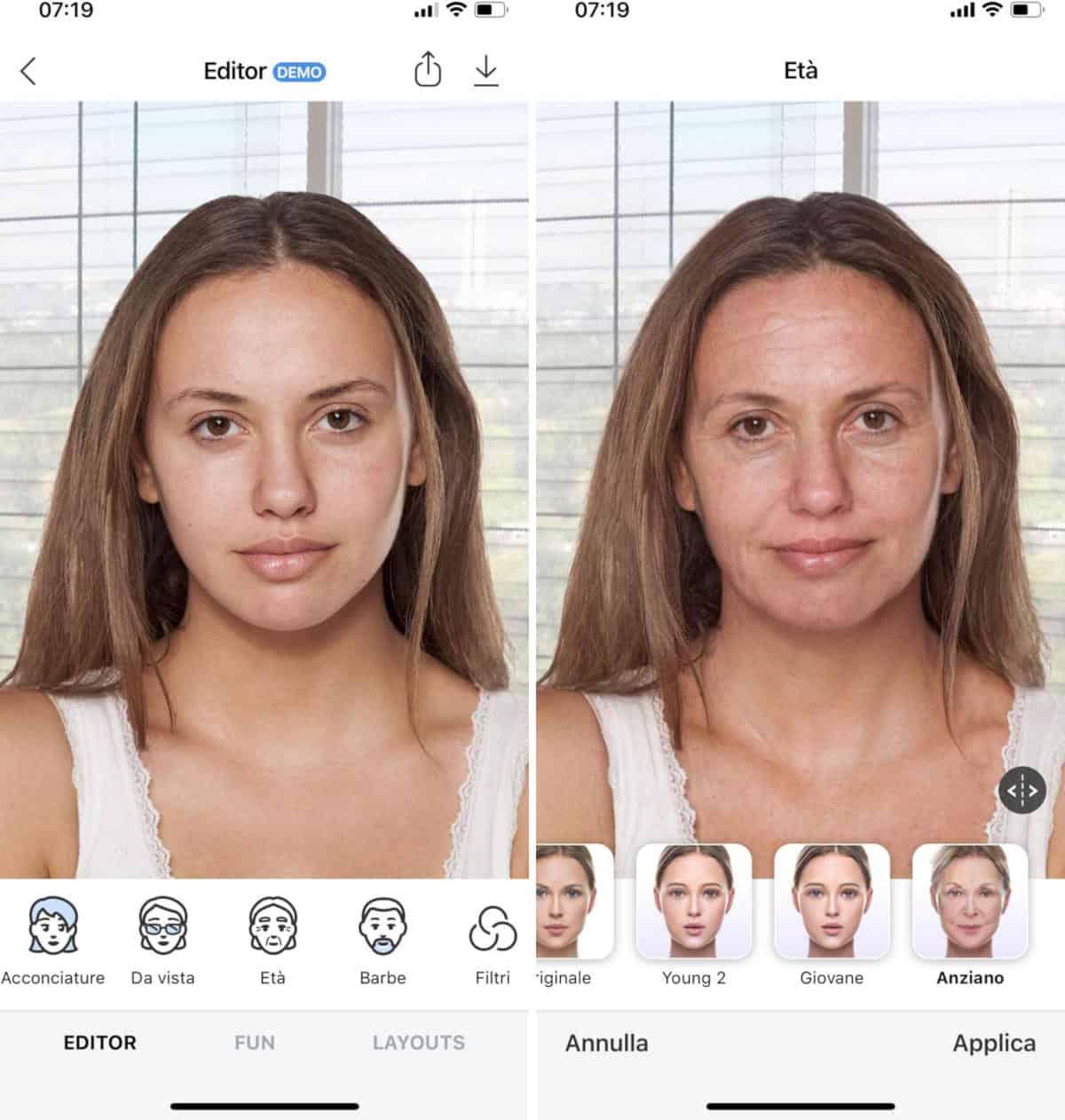 app per invecchiare foto FaceApp iOS
