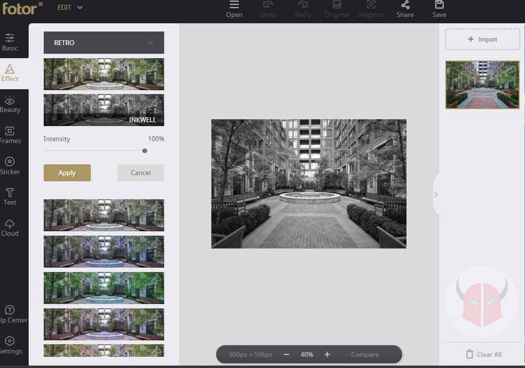 app per invecchiare foto Fotor filtri