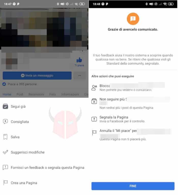 come bloccare Facebook a una persona Pagina cellulare