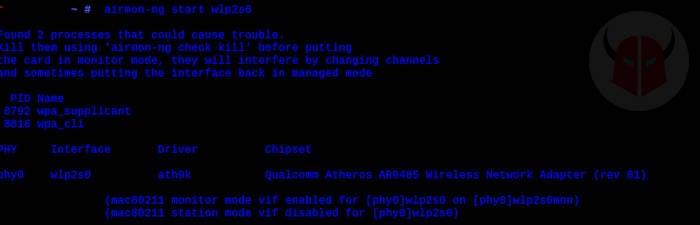 come craccare una rete WiFi protetta airmon-ng errore