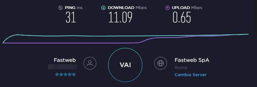 come migliorare la connessione Internet speed test Ookla